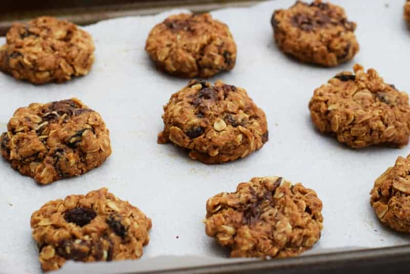 oatmeal raisin cookies with peppermint