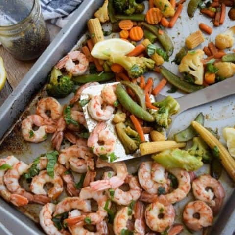Easy Sheet Pan Honey Garlic Shrimp and Veggies