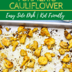 crispy baked cauliflower on sheetpan | www.bucketlistummy.com