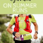 Runner wearing hydration vest