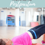 woman doing hip raise with text overlay