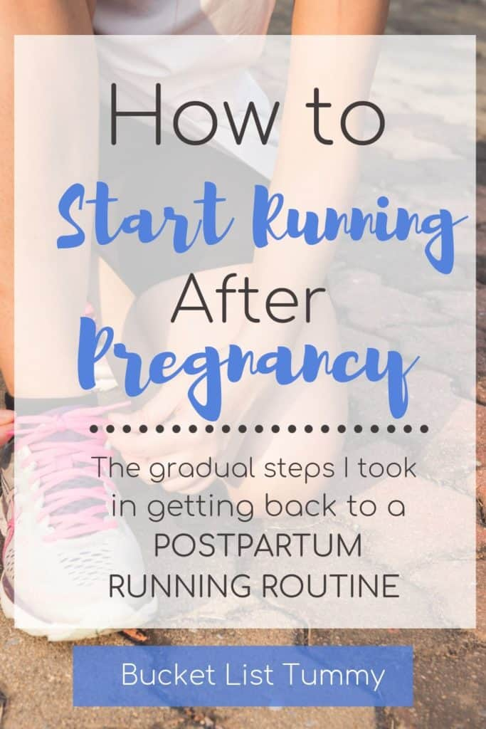 Postpartum Running Text | Bucket List Tummy