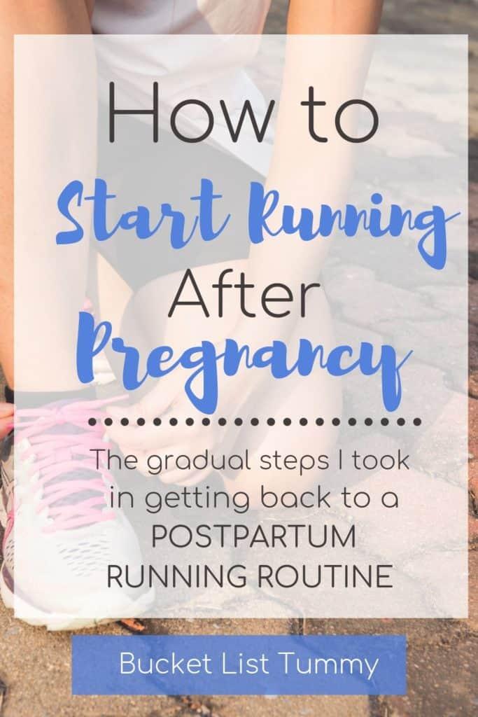 Postpartum Running Text | Bucket List Tummy