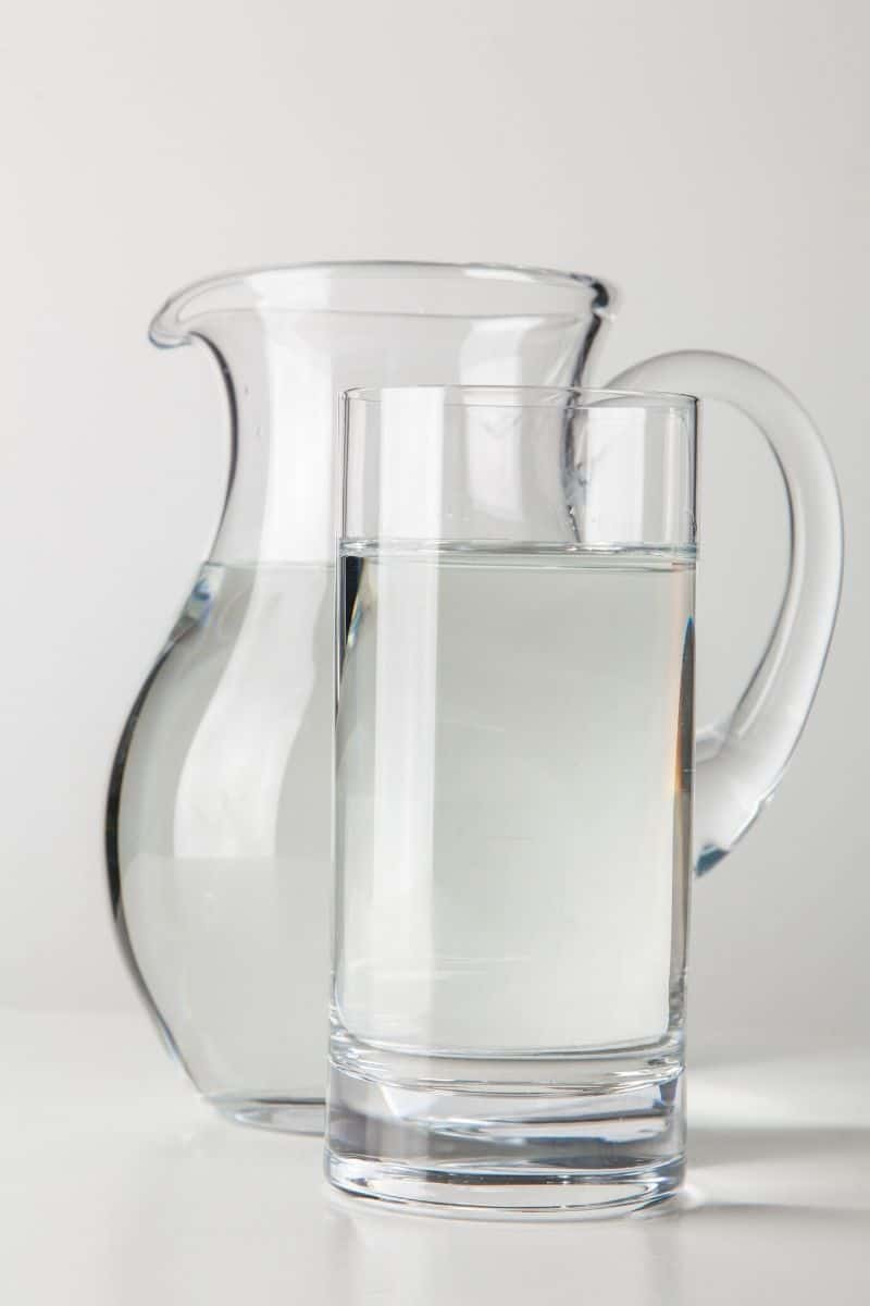 pitcher of water with glass of water