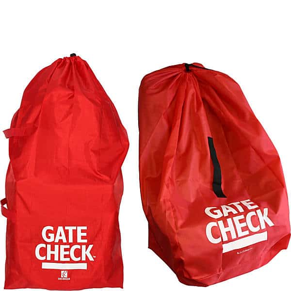 Red Gate Check bags used for traveling