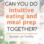 Meal Prep with text overlay | Bucket List Tummy
