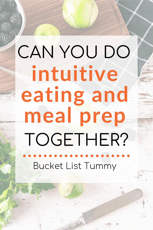Meal Prep with text overlay | Bucket List Tummy