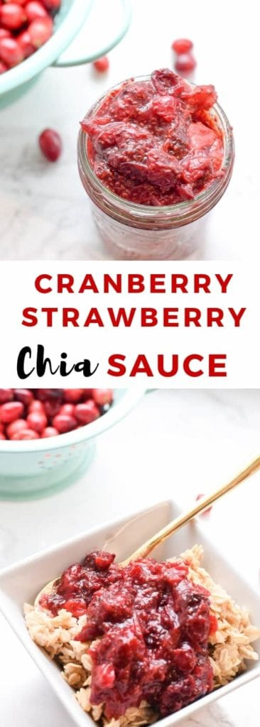Cranberry Strawberry Chia Sauce | Thanksgiving Side