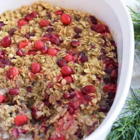 Cranberry Pomegranate Baked Oatmeal