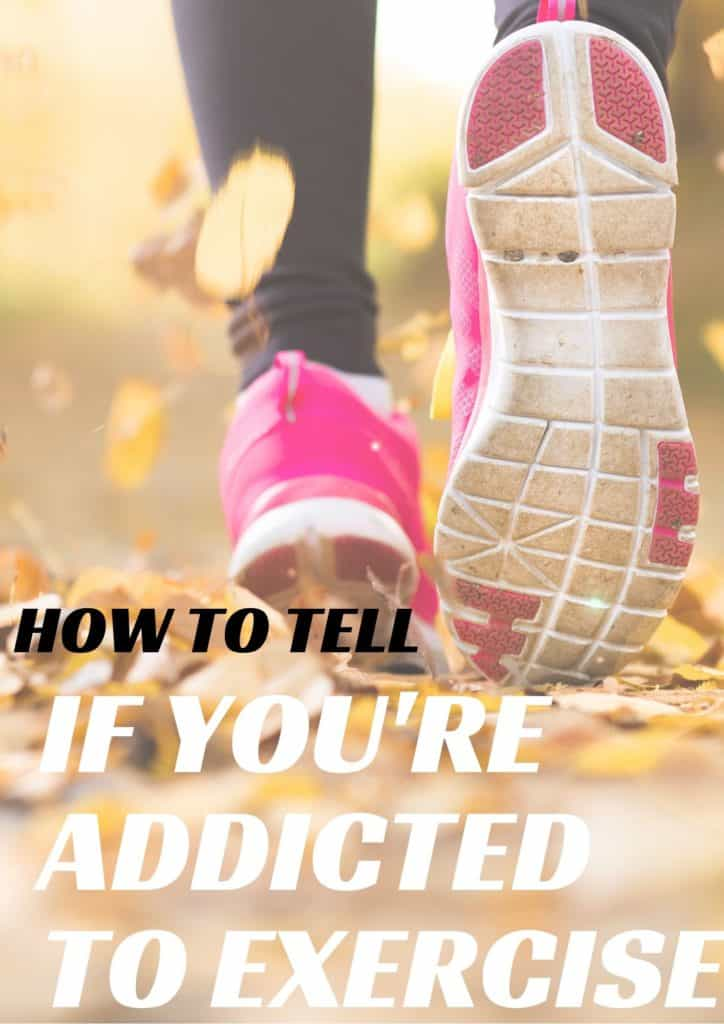 Girl running with text overlay | How to tell if addicted to exercise