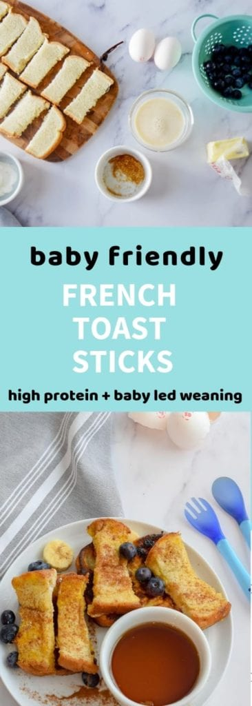 Pinterest graphic for Baby French Toast Sticks