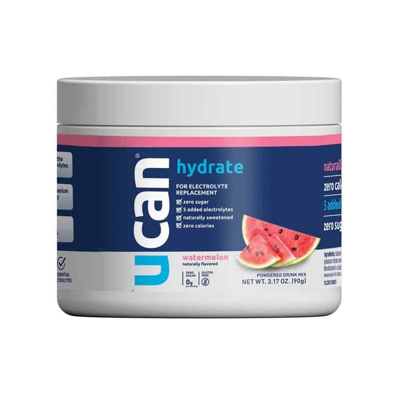 tub of UCAN watermelon electrolytes