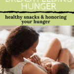Mother nursing baby with text overlay | Bucket List Tummy