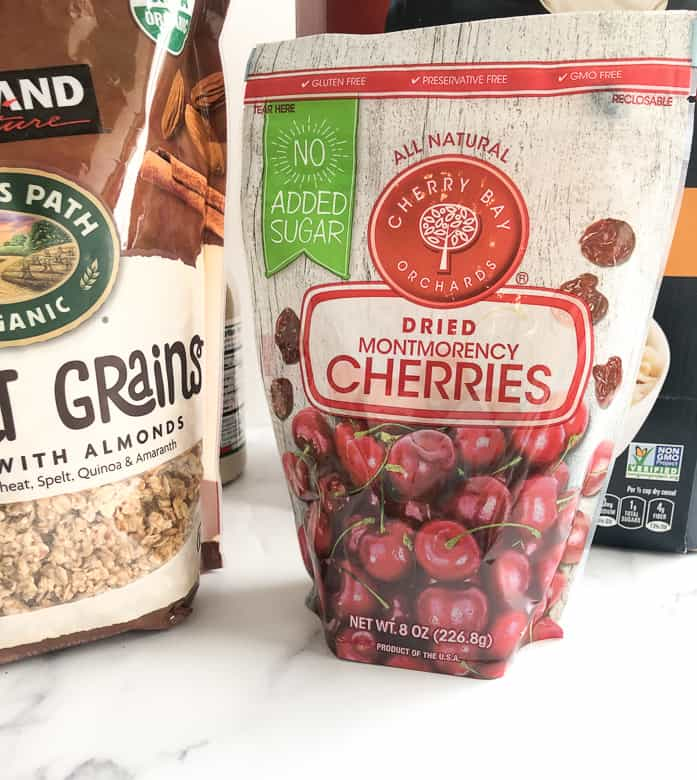 Dried tart cherries are great for runners