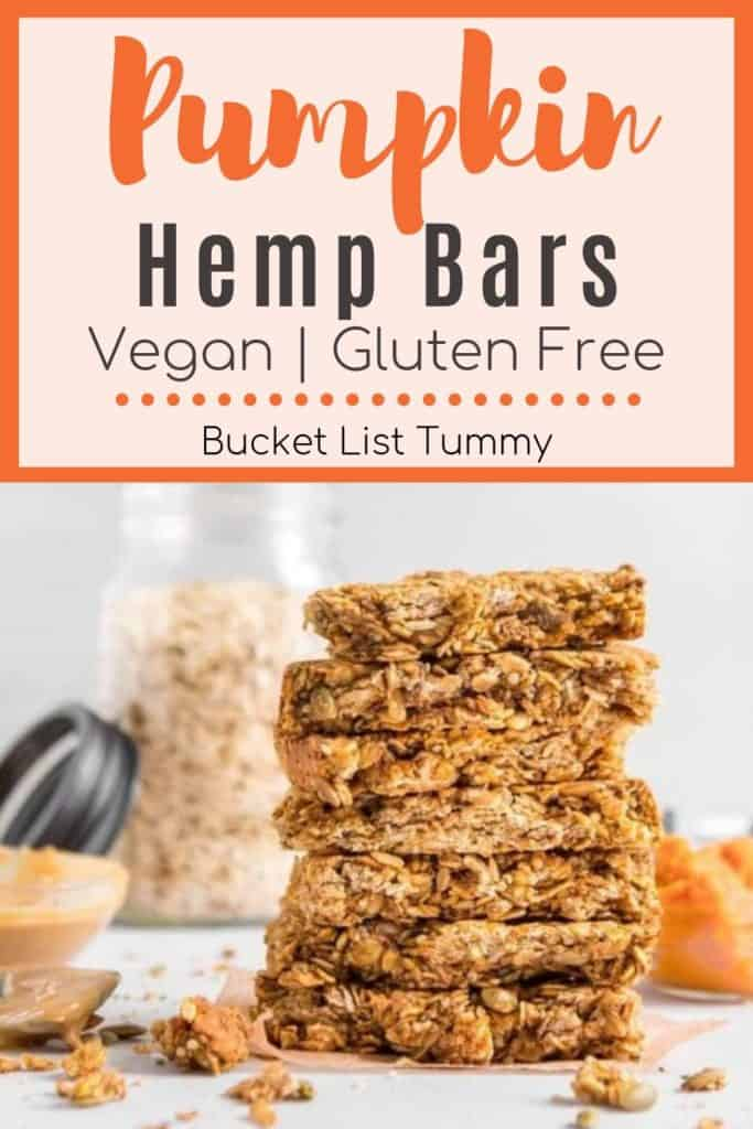 Pumpkin Granola Bars with text overlay | Bucket List Tummy