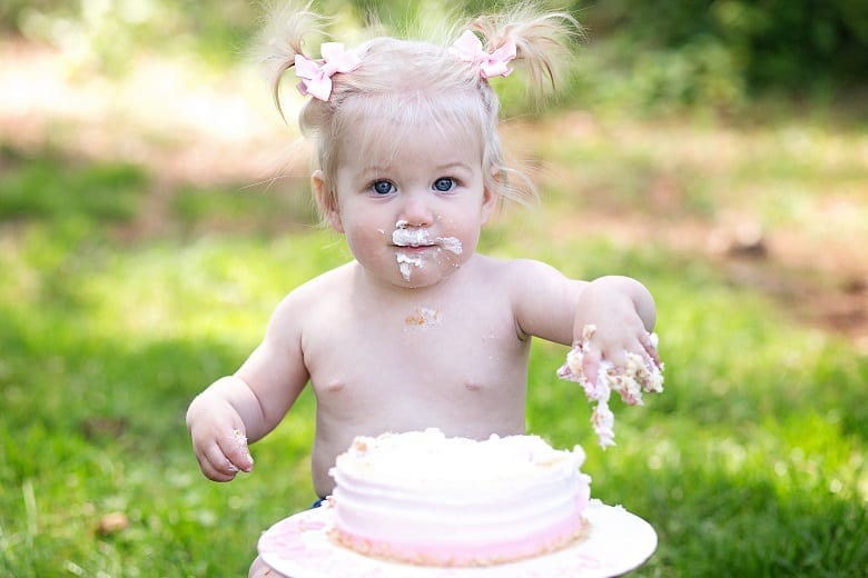 Baby Cake Smash Photo at Park
