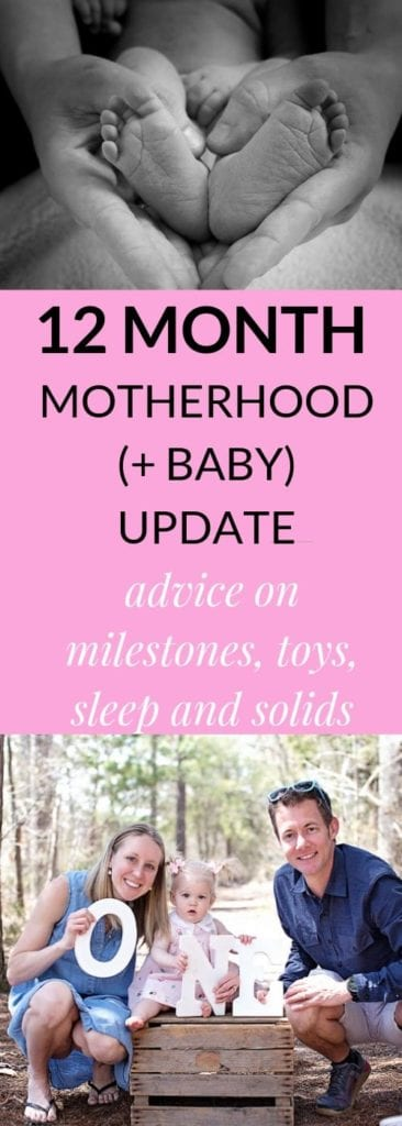 12 months baby advice text overlay