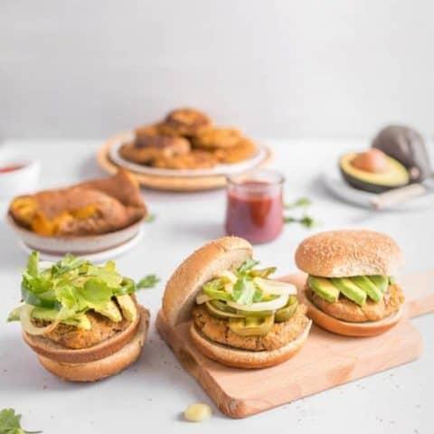Easy Ground Turkey and Sweet Potato Burgers