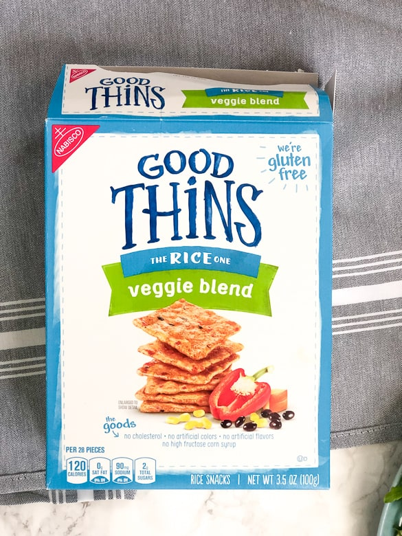 Good Thins Veggie Blend as Healthy Snack | Bucket List Tummy