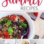 a roundup of summer recipe ideas |www.bucketlisttummy.com