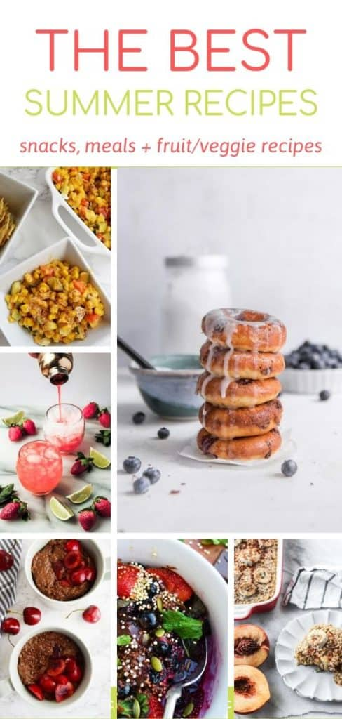 Grid roundup of summer recipes on Bucket List Tummy
