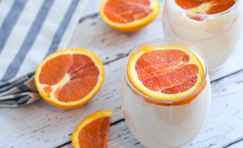 Cara Cara oranges over a tropical smoothie   Bucket List Tummy