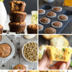 A roundup of 40 baby muffins and toddler muffins with text overlay | Bucket List Tummy