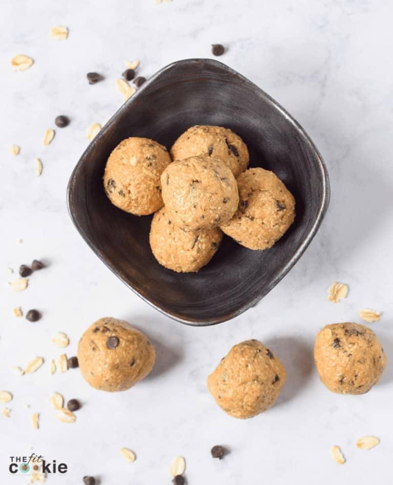 Coffee Chocolate Chip Protein Bites for athletes