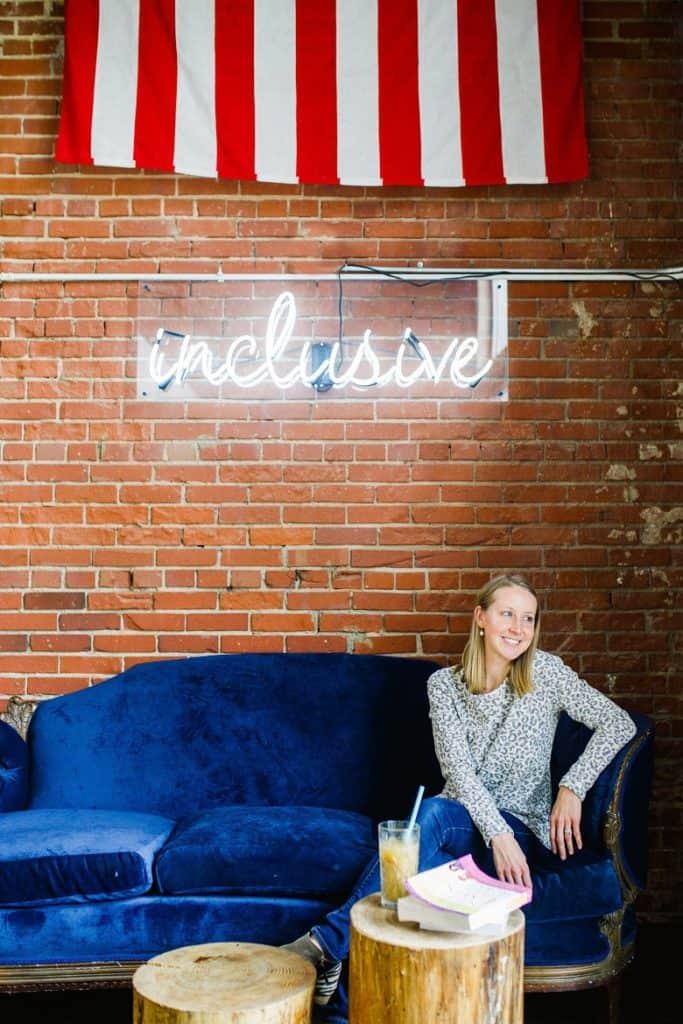 Inclusive text in coffee shop | Bucket List Tummy