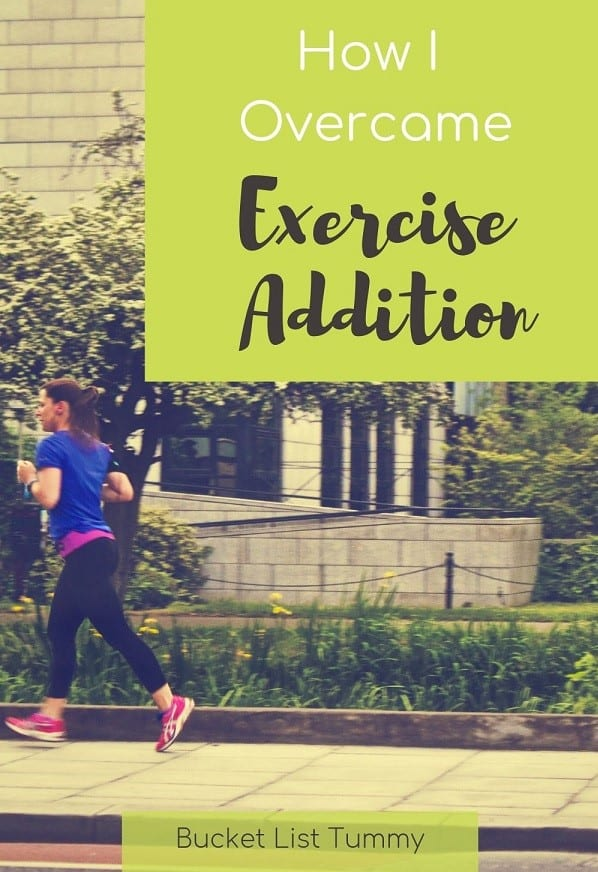 Runner addicted to exercise