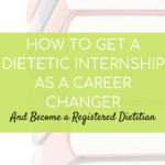 books for studying with text overlay about how to become a Registered Dietitian | Bucket List Tummy