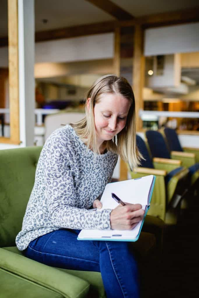 Taking notes and studying for RD exam in coffee shop | Bucket List Tummy