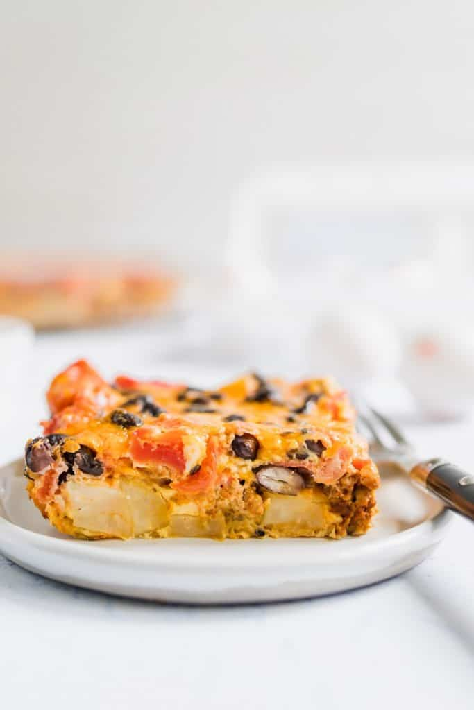 Slice of Mexican Chorizo Breakfast Casserole