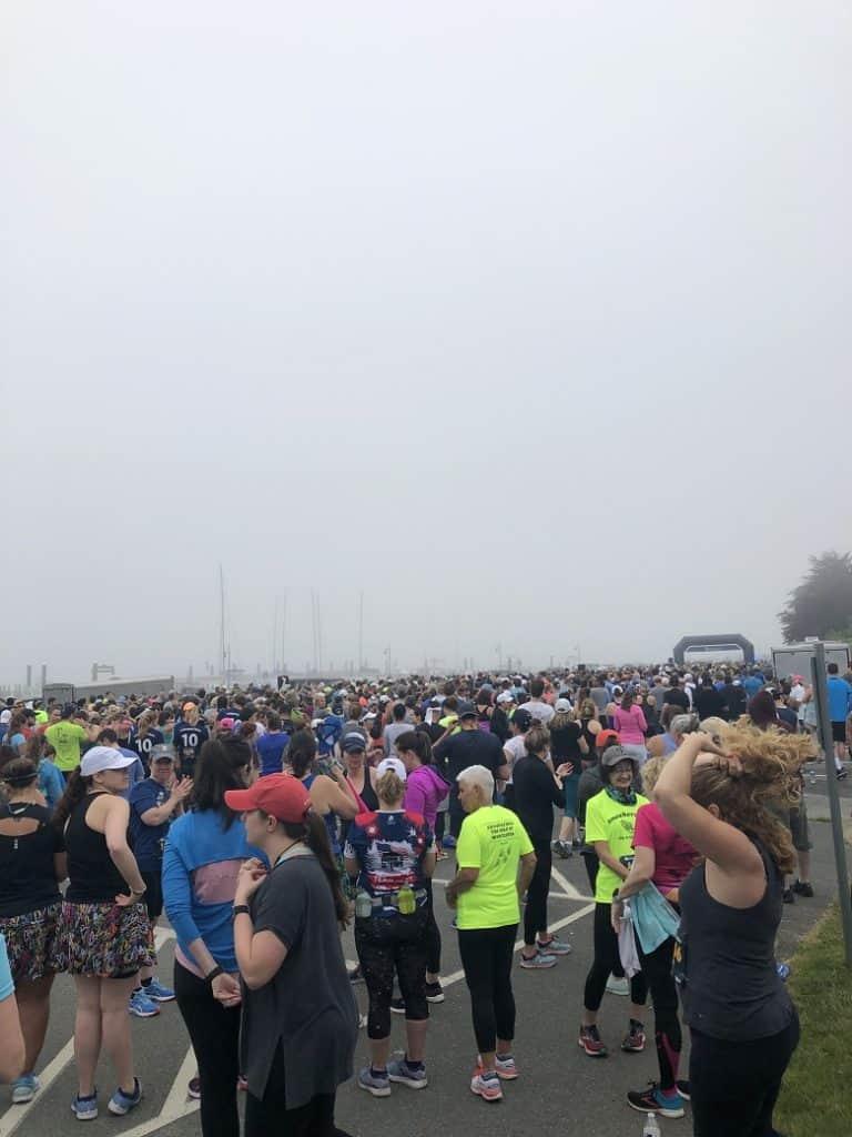 Start of Newport 10 Mile Course | Race Recap by Bucket List Tummy