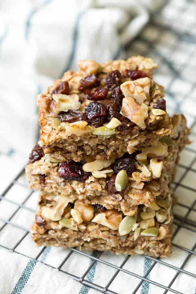 Healthy Trail Mix Bars for Athletes