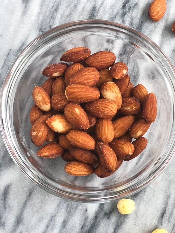 salted almonds for diy trail mix