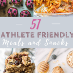 Graphic for Snacks for athletes with text overlay