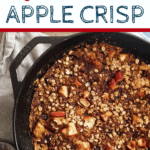 apple crisp in black skillet