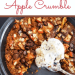 Gluten Free Apple Crumble with scoop of ice cream