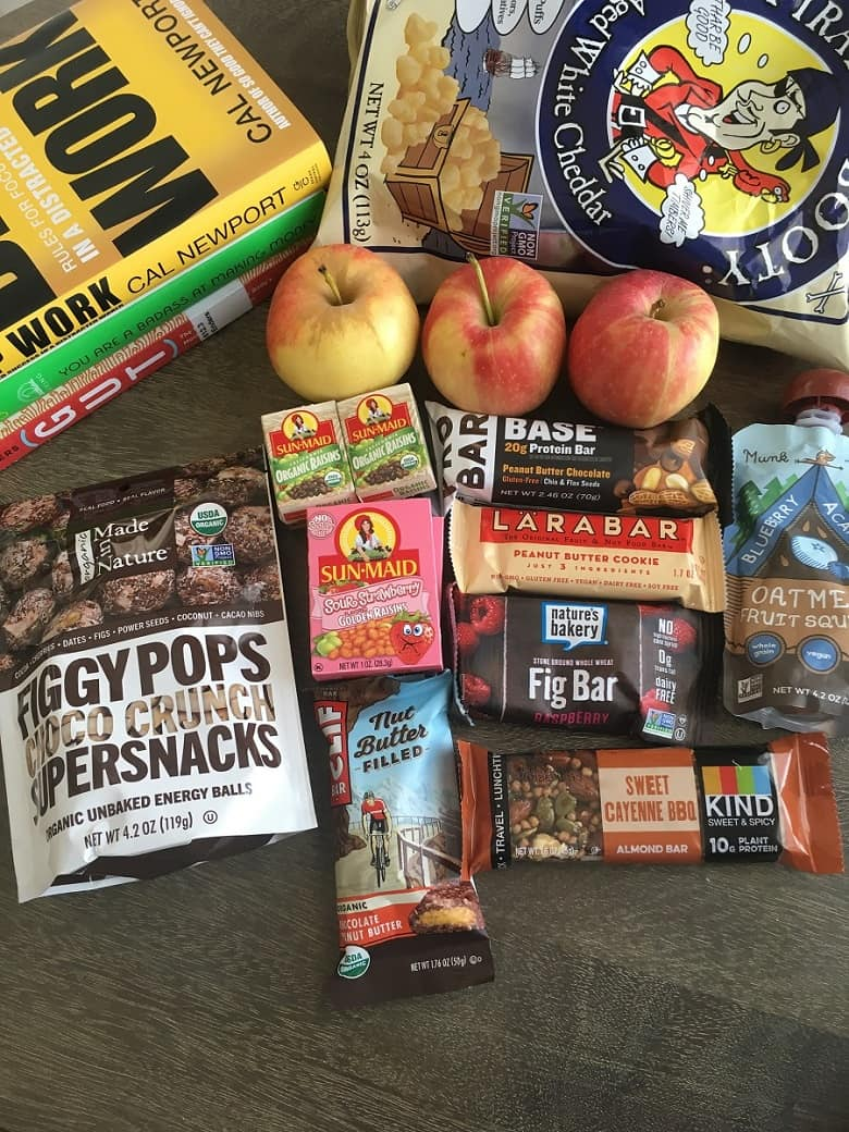Variety of Snacks When Traveling