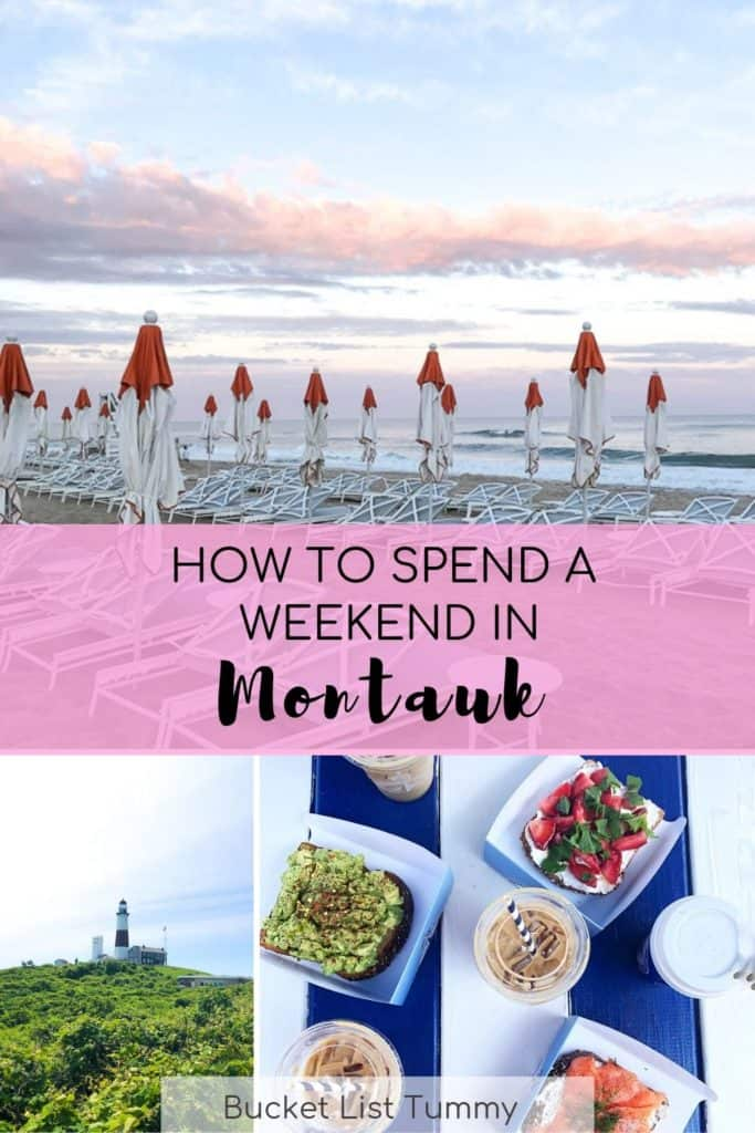 Graphic with Text about How to Spend a Weekend in Montauk, NY