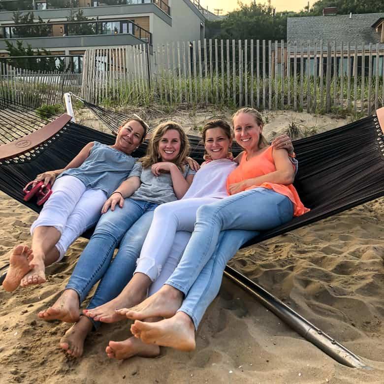 Girls on a hammock in Montauk, NY | Girls trip to Montauk