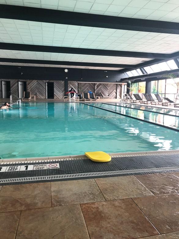 Indoor pool at Gurneys resort in Montauk, NY