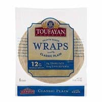 Toufayan Bakeries Classic Plain Wrap, 6 Wraps Per Bag - Pack of 1