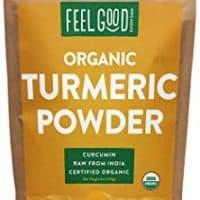 Organic Turmeric Root Powder w/Curcumin   Lab Tested for Purity   100% Raw from India   8oz Bag by Feel Good Organics