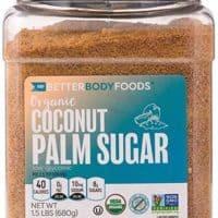 Organic Coconut Palm Sugar, Gluten-Free, Non-GMO Sweetener Substitute (1.5 lbs.)