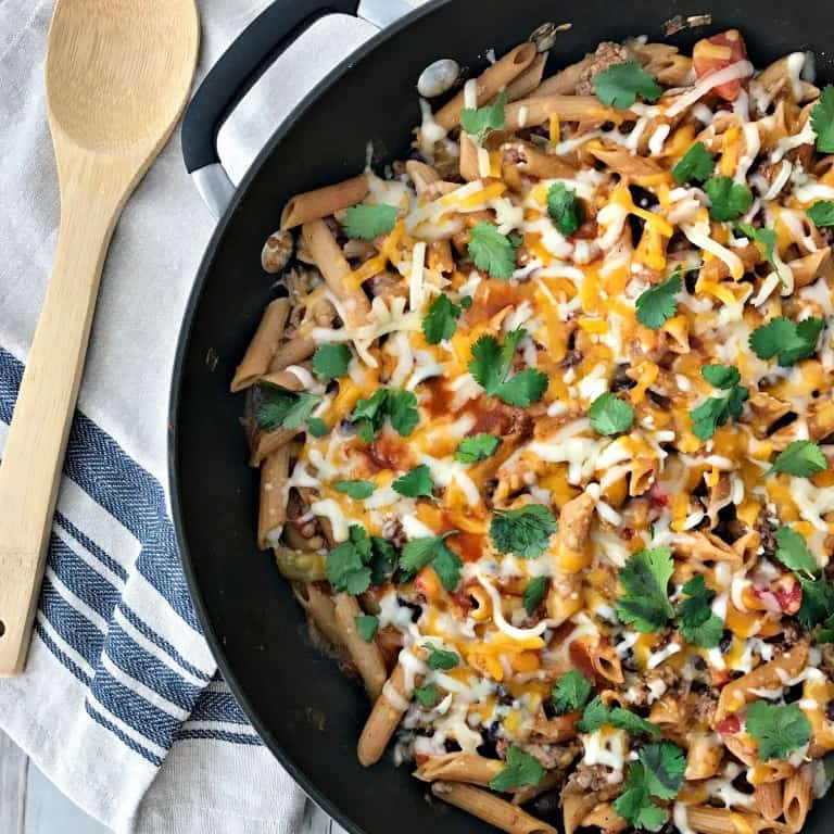 Pasta Recipe in a skillet