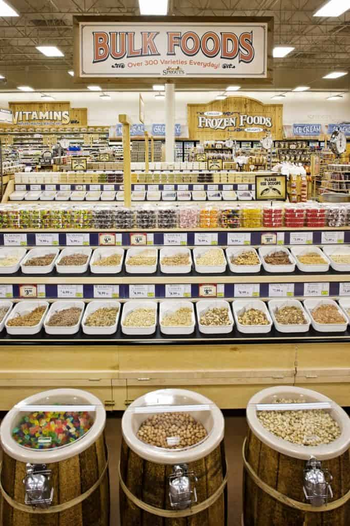 Bulk product offerings at Sprouts Farmers Market