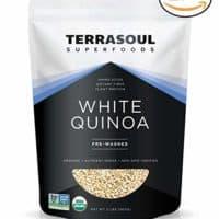 Terrasoul Superfoods White Quinoa (Organic), 4 Pounds
