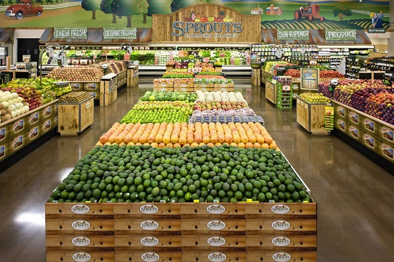 Produce items available in Sprouts